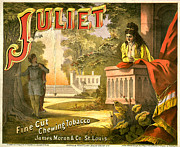 Romeo And Juliet Prints - Juliet Tobacco Label Print by Studio Artist