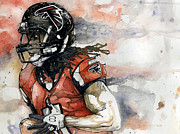 Nfl Mixed Media Acrylic Prints - Julio Acrylic Print by Michael  Pattison