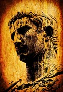 Statue Portrait Digital Art Prints - Julius Caesar  Print by Mike Grubb