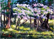 Etc. Pastels Prints - July Bloom Print by Bruce Schrader