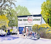 4th July Painting Prints - July Fair Haven NY Print by Carol Burghart