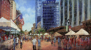 4th Of July Paintings - July Fourth in the Capital by Dan Nelson