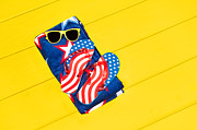 Beach Towel Prints - July fourth objects Print by Joe Belanger