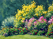 In Full Bloom Prints - Julys Garden Print by Rick Hansen