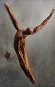 Wooden Sculpture Art - Jump by Gun Legler