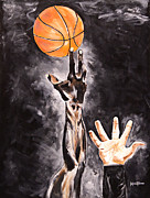 Basketball Paintings - Jump by Kevin Thomas