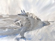 Jet Painting Originals - Jump Plein Air Sketch by Pib