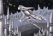Science Fiction Drawings - Jump by T Koni