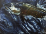 Brown Trout Originals - Jumpin 1 by Melissa Fisher