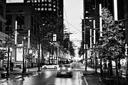 Junction Framed Prints - junction of west pender street and granville downtown city at night Vancouver BC Canada Framed Print by Joe Fox
