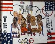 Michael Jordan Painting Originals - June 1992 by Mj  Museum