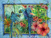 Hyacinth Macaw Prints - Jungle Blues Print by Deborah Younglao