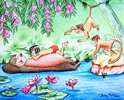 Stories Drawings Prints - Jungle book Print by Tanmay Singh