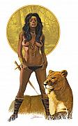 Harold Shull Metal Prints - Jungle Girl Metal Print by Harold Shull