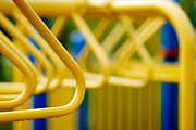 Exercise Prints - Jungle Gym at Playground Shallow DOF Print by Amy Cicconi