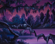 Haunted Mansion  Paintings - Jungle of Narnia by James Christopher Hill