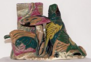 Pen  Ceramics - Jungle Shrooms by Susan Perry