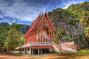 Wat Metal Prints - Jungle Temple v2 Metal Print by Adrian Evans