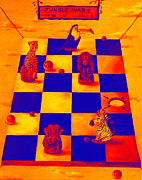 Chess Paintings - Jungle Wars edit 4 by Leah Saulnier The Painting Maniac