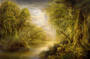 And Forests Digital Art - Jungles of an Earth Like Moon by Ernest Tang