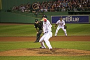 Red Sox Metal Prints - Junichi Tazawa Metal Print by Amazing Jules