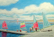 Junior Sailing School - West Kirby Marine Lake  Print by Peter Farrow