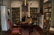 Bookcase Prints - Junipero Serra library in Carmel Mission Print by RicardMN Photography