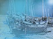Jorge Gaete - Junk Boat under a winter...