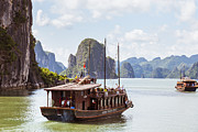 Junk Photos - Junk on Halong Bay Vietnam by Fototrav Print