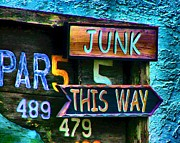 Sign In Florida Photo Acrylic Prints - Junk This Way Acrylic Print by Julie Dant