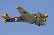 Warbird Photo Posters - Junkers Ju-52 Poster by Adam Romanowicz