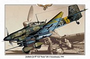 Dogfight Mixed Media - Junkers Ju 87G - Stuka by A Hermann