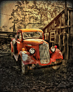 Abandoned Mixed Media Prints - Junkyard Art Dressed Up No Place To Go Print by Robert Albrecht