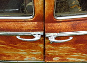 Rusted Cars Prints - Junkyard Cars 13 Print by Mike Witte