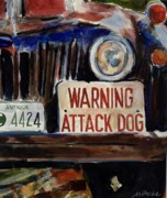 Junkyard Framed Prints - Junkyard Dog Framed Print by Molly Poole