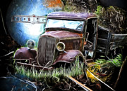Graffitti Coupe Prints - Junkyard Jewel Print by Steve McKinzie