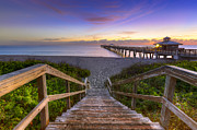Florida Bridges Prints - Juno Beach   Print by Debra and Dave Vanderlaan