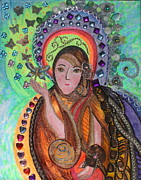 Goddess Mythology Mixed Media - Juno by Nedra Russ