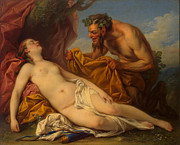 Famous Artists - Jupiter and Antiope by Charles-Andre van Loo