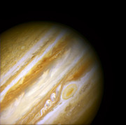 Jupiter And The Great Red Spot Print by The  Vault