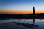 Light House Photos - Jupiter and Venus Conjunction by Joe Gee