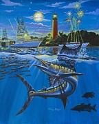 Jupiter Boat Parade Print by Carey Chen