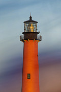 Autumn Prints Pyrography Prints - Jupiter Inlet Lighthouse Print by Dmitry Chernomazov
