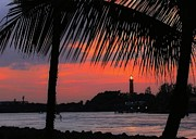 Jupiter Inlet Prints - Jupiter Inlet Sunset Print by Sabrina L Ryan