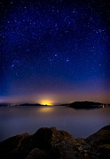 Long Exposure Art - Jupiter over Wildcat Cove by Alexis Birkill