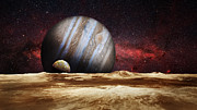 Galaxies Digital Art - Jupiter Rising by Bill  Wakeley