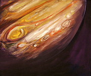 Space Paintings - Jupiter by Sheila Diemert
