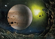 Planet System Paintings - Jupiter the Giant by Andrew Rogov