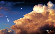 Astronomical Art Digital Art - Jupiters Stormy Sunset by Tharsis  Artworks
