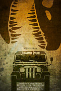 Jurassic Park Framed Prints - Jurassic Park Movie Poster Framed Print by Ed Burczyk